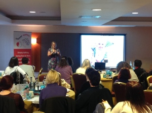 and our very own Louise Perry talked about her experiences as a new parent in her talk 'chatter matters... but...'