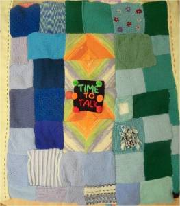 'time to talk' blanket