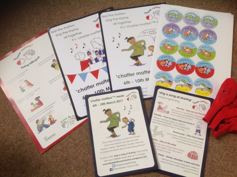 'chatter matters week' resource packs